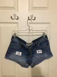 Blue and white hollister denim short shorts Vaughan, L4J