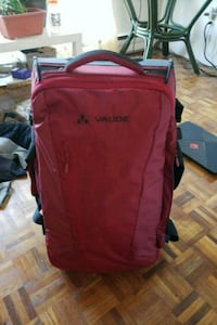 red and black Columbia backpack Surrey, V3Z