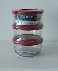 NEW Anchor Glass Food Storage Containers - 2 cup bowls - 6 pcs Montreal
