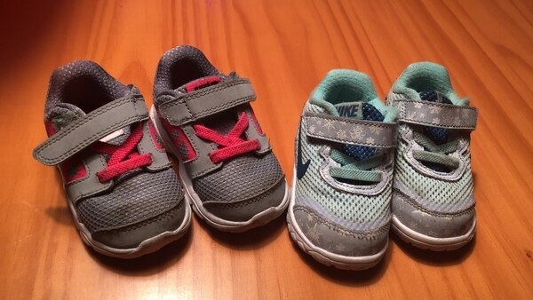 toddler's two pairs of assorted shoes size 4