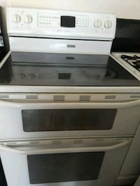 white and black induction range oven Dallas, 75236
