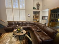 Full Grain Leather 9 Pc Sectional