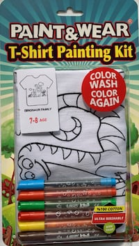 Brand New Paint & Wear T-Shirt and Painting Kit (Dino) Mc Lean