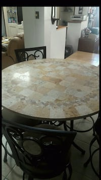 Stone dinning set x 5 rotating seats Clearwater, 33765