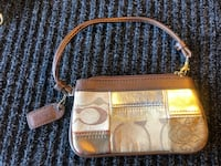 brown and beige Coach wristlet Vacaville, 95688