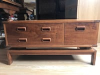 brown wooden 3-drawer chest London, SE26 5PW