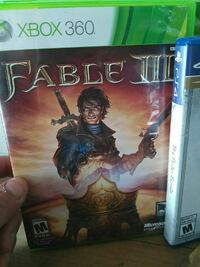 Xbox 360 Fable 3 game case