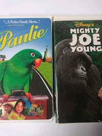 Paulie and Mighty Joe Young vhs tapes