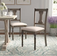 Set of 4 Dining Chairs. Antiqued Finish Chesapeake, 23322
