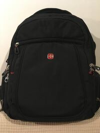black and red Swiss backpack Montréal, H8T 1P1
