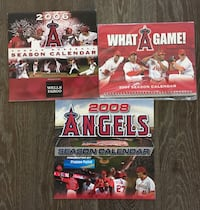 LA anaheim angels baseball  [TL_HIDDEN] 8 wall calendar lot Tustin, 92782