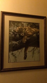 lioness on tree painting