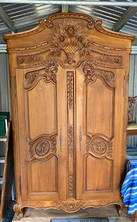 Antique solid wood armouir. Hand carved