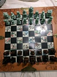 Hand carved antique Hong Kong chess set Stateline, 89449