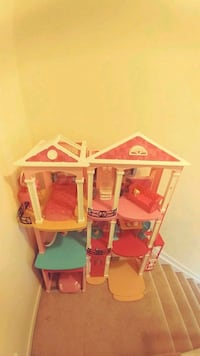 pink and white 3-storey dollhouse Laurel, 20723