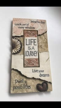 Life is a Journey Wall Plaque Dartmouth, B2X 1H1