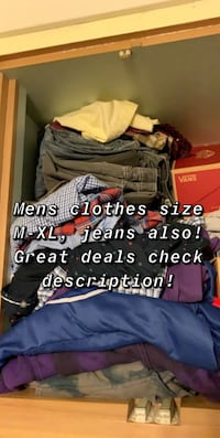 Mens clothes on my profile great prices!
