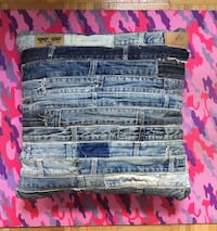 Throw pillow made from recycled jeans material Los Angeles, 90034