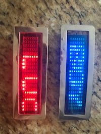 LED Belt buckle program your message on 6 inch screen instructions included asking $125 Per buckle