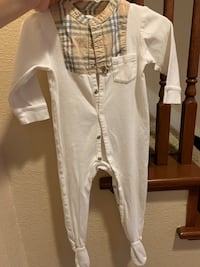 Burberry footed one piece pajama
