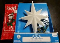 Christmas LED Tree Topper (Warm White Lights) w/ Silver Tinsel Alexandria, 22314