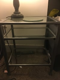 2 matching glass bedside tables 2274 mi