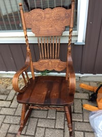 brown wooden rocking chair with ottoman Barrie, L4N 6Y8