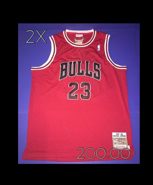 finest selection 55de0 bff26 New Chicago Bulls Mitchell & Ness Micheal Jordan Hardwood Classics Jersey