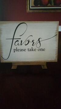 white and brown wooden favors please take one signage Milton, 37118