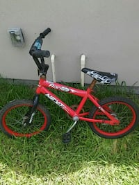 toddler's red and black BMX bike McAllen, 78504