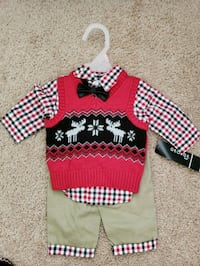 Christmas outfit size 0-3 months  Suffolk, 23435
