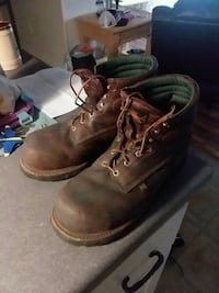 Thurgood steel toe work boots lightly used size 13 Daphne