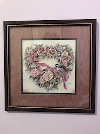 VINTAGE HOME INTERIORS HEART OF FLOWERS PRINT... Clementon, 08021