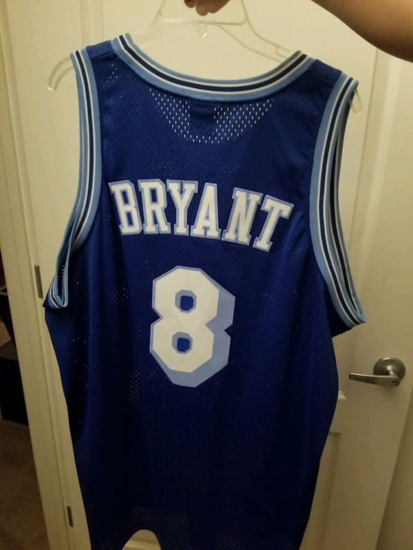 d60be1946 Used Los Angeles Lakers Kobe Bryant Blue  8 Throwback C for sale in San  Jose - letgo