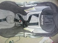 gray and black Baby Trend car seat carrier