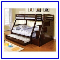 Bunk Beds Twin Over Full - $1199 & Up / $10 Down Littleton