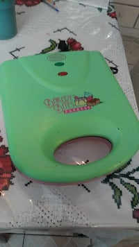 green and red waffle maker