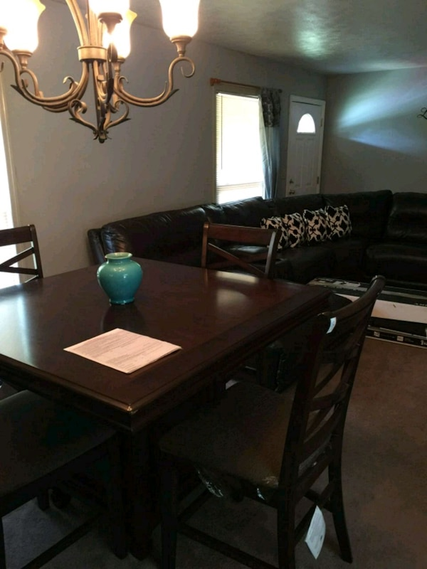 Dining room table and Sectional Couch/coffee table