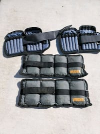 2 Pair Ankle weights.. BODY FIT..and WEIDER Roy, 84067