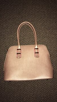 Charly Rose Gold Leather Bag