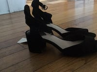 H and suede open toe heels Toronto, M5R 2P8