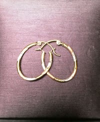 10k Yellow Gold, White Gold & Rose Gold hoop earri Mississippi