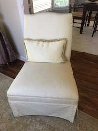 Two custom upholstered armless chairs  Alexandria, 22310