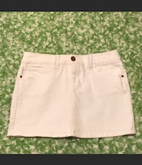 White Denim Skirt Size Small Herndon, 20170