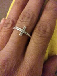 ring real black diamonds cross
