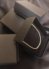 18k plated gold rope chains
