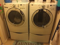 Two white front-load clothes washer and dryer set Austin, 78748