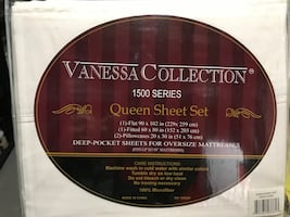 Queen sheet set.