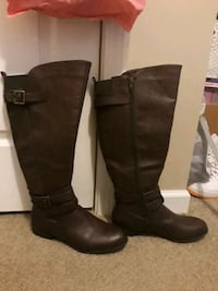 Wide Calf Brown Boots sz 9 North Charleston, 29406