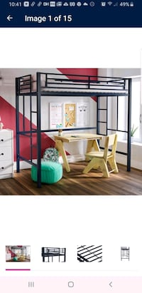 Blue twin loft bed